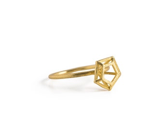 CG-R-21 little constructed diamond ring gold filled