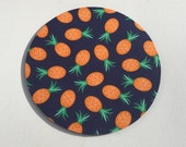 Mouse Pad mouse pad / Mat - Navy Pineapples round or rectangle office accessories desk home decor