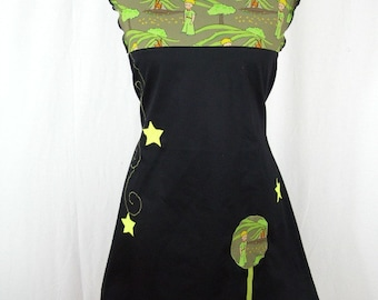 Kyriu dress Small black and green Prince