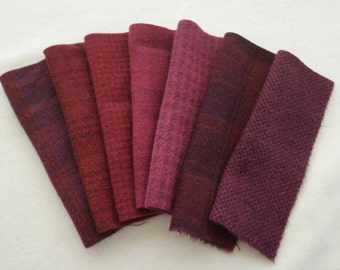 Berry - Wine - Black Cherry - Garnet - Hand Dyed and Felted Wool Fabric 6013