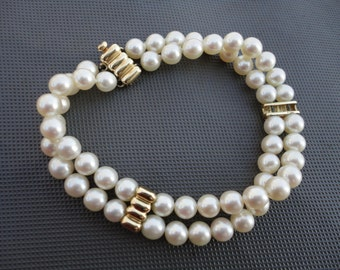 Vintage Genuine Pearls 14K Yellow Gold Clasp and Spacers