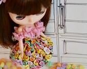 Valentine Heart Bubble Dress for Kenner Neo-Blythe or Custom Blythe Doll