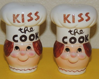 Japan Kiss the Cook Salt and Pepper Shakers