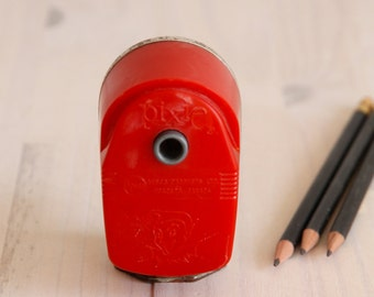 Vintage red Pixie Pencil sharpener