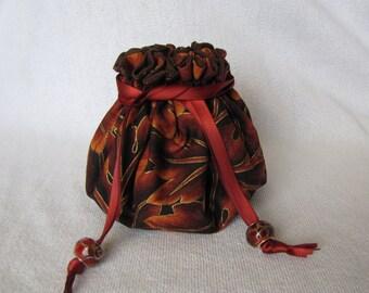 Jewelry Bag - Medium Size - Tote - Drawstring Jewelry Pouch - Travel Bag - BRONZE ACHINO