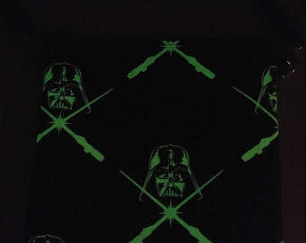 Star Wars Darth Vader glow in the dark fabric purse messenger bag with adjustable strap