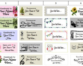 40 PreDesigned or Custom Fabric Clothing Labels {colorfast/fray-proof/iron-on/sew-in}