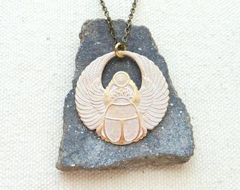 Egyptian jewelry scarab necklace pagan jewelry spiritual jewelry scarab beetle egyptian necklace mythology jewelry