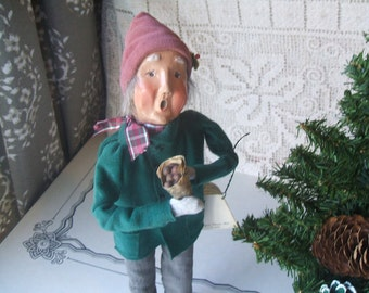 1992 Byers Choice Ltd. Caroler, Cries Of London, Hot Chestnuts Vendor, Elderly Man