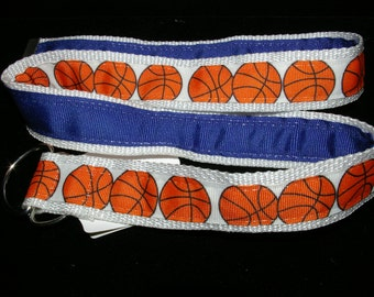 Ready to Ship...Basketball, White, and Royal Blue Adjustable Belt