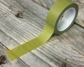 Washi Tape - 15mm - Solid Olive - Deco Paper Tape No. 29