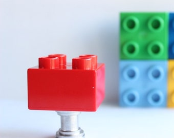 Brick Drawer Knobs - Duplo Drawer Knobs in Red (TK03-04)