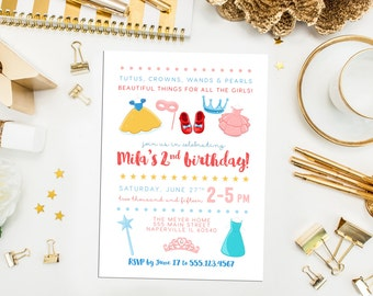 Dress Up Birthday Invite. Dress Up Party. Girl Dress Up Party. Dress up Birthday Party. Girl Princess Party. Girl Costume Party Invite.
