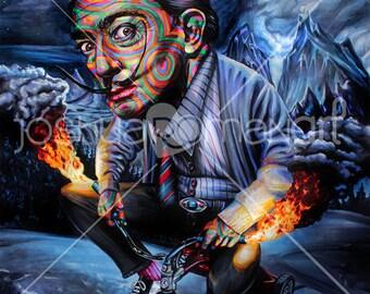 """14"""" X 11"""" Salvador Dali  - Print"""