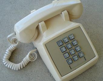 Push Button Phone - Model 2500 - Tan