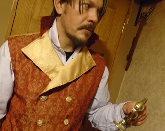 "Steampunk Classic Sweeny Todd  Waistcoat 42- 45/46"" Chest."