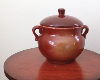 Vintage Clay Pot with Lid - Free Shipping