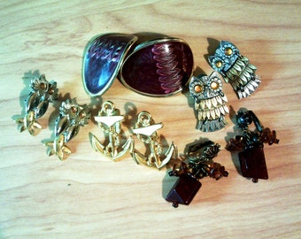 Vintage Lot 5 Earrings