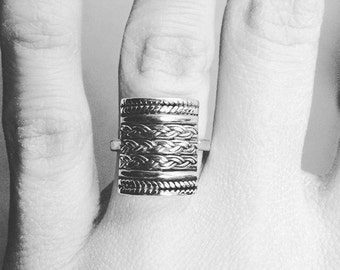 Antique Silver Barrel Ring, Antique Silver Ring, Antique Jewelry, Statement Ring, Silver Statement Ring, Silver Ring, Bohemian, Boho chic