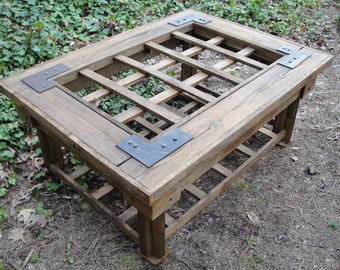 Coffee Table Cedar Made From An Old Weathered Gate