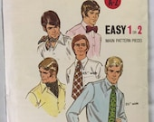 Butterick 6013 men Bow Tie, square Scarf, Necktie Ascot sewing pattern vintage Fathers Day Guft to make