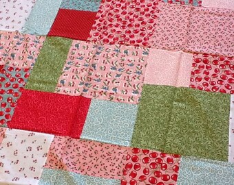 Quilt Top : Cherries Handmade/Unfinished