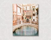 Venice Photo on Canvas, Acqua Dolce, Italy Travel Home Decor, Gallery Wrapped Canvas, Large Wall Art