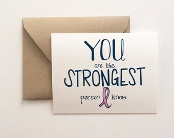 Strongest Person Breast Cancer Card