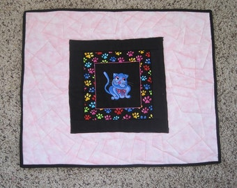 Quilted Cat Mat & Blanket
