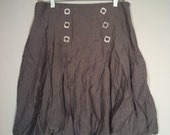 SALE Jus D'Orange grey poof skirt mini boho bohemian punk made in Paris France 80s pleated