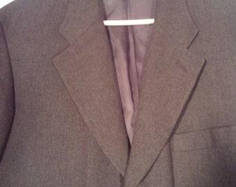 SALE Perry Ellis Men's vintage blazer olive green cocktail jacket 44 L XL grunge punk suitn 80s 90s playboy