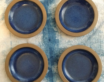 Vintage Heath Ceramics Moonstone Rim Plates - set of 4