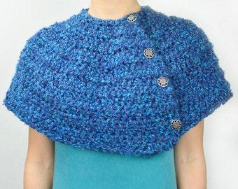Warm Winter Capelet - 9 Sizes - PDF Crochet Pattern - Instant Download
