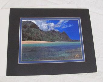 Signed Photograph Print - KERRY ODA - Fine Art Image - Hawaii Tunnels Beach Kauai