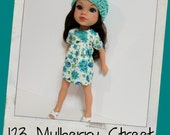 Hearts 4 Hearts Doll Clothes- Spring FloralDress and Hat fit H4H Dolls, Les Cheries
