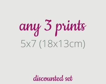 Any 3 Prints, Prints Sets, Whimsical Print Sets, Surreal Portraits Set, 5x7 Prints, Discounted Sets, fit Nyttja ikea frame