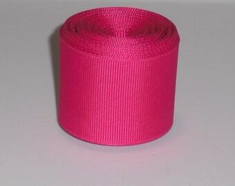 Shocking Pink 1.5 inch Solid Grosgrain Ribbon 10 yards