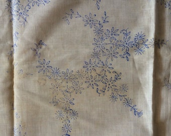 Vintage Stamped Tablecloth Ready to be Embroidered