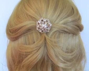 Rose Gold Crystal Bridal Hair Pins,Bridal Accessories,Wedding Accessories,Bridesmaid Hair Pin,Hair Jewelry