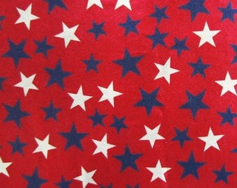 Holographic Stars on Red Spandex Fabric