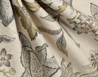 Waverly Jacobean Flair Vermeil curtain panels, extra long drapes, custom drapes