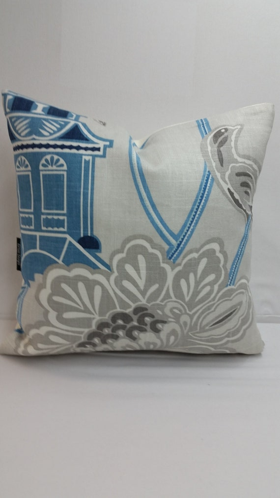 Ivory Decorative Throw Pillows : Decorative throw pillow brown blue and ivory 14