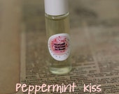 CLEARANCE 1 Left - PEPPERMINT KISS Perfume Oil Roll On - You Choose Scent- 7ml Glass Roll On Bottle,  Paraban and Phthalate Free, Vegan