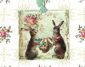 Rabbit, Easter Gift Tags, Easter, Bunny, Bunny Tags, Easter Tags