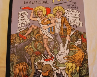 Zombie Punk No 1 Jumbo 11x17 Comic in full color by Rebecca Migdal