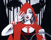 "PAYMENT 1 of 2, for Rylee J. ""Red"" Little Red Riding Hood Tribute: Original Painting"
