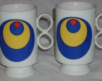 Mid Century Mod Pedestal Mugs