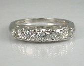 Vintage Platinum Diamond Wedding Ring - 0.63 Carats Diamond Total Weight - Appraisal Included