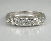 Vintage Platinum Diamond Wedding Ring - 0.63 Carats Diamond Total Weight - Appraisal Included 2380.00 USD
