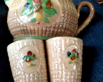 Vintage Made in Japan Pitcher & Juice Cups